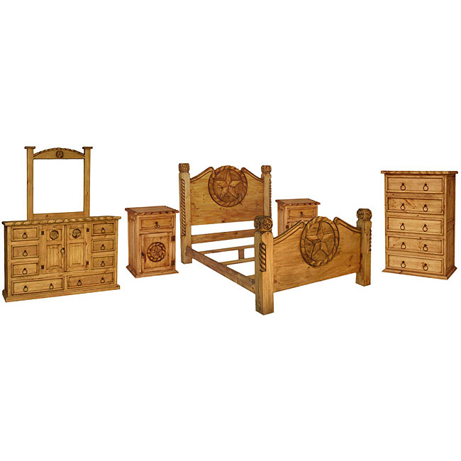 Http Www Rusticfurniture Co Product Rustic Pine Texana Bedroom Set With King Lasso Bed