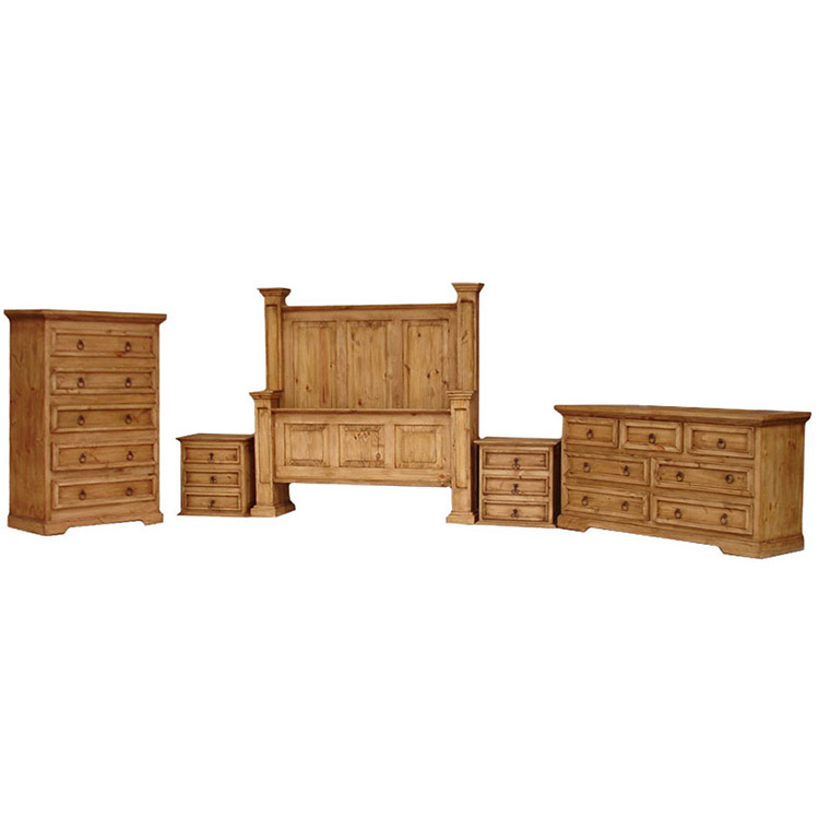 rustic pine oasis bedroom set with king oasis bed