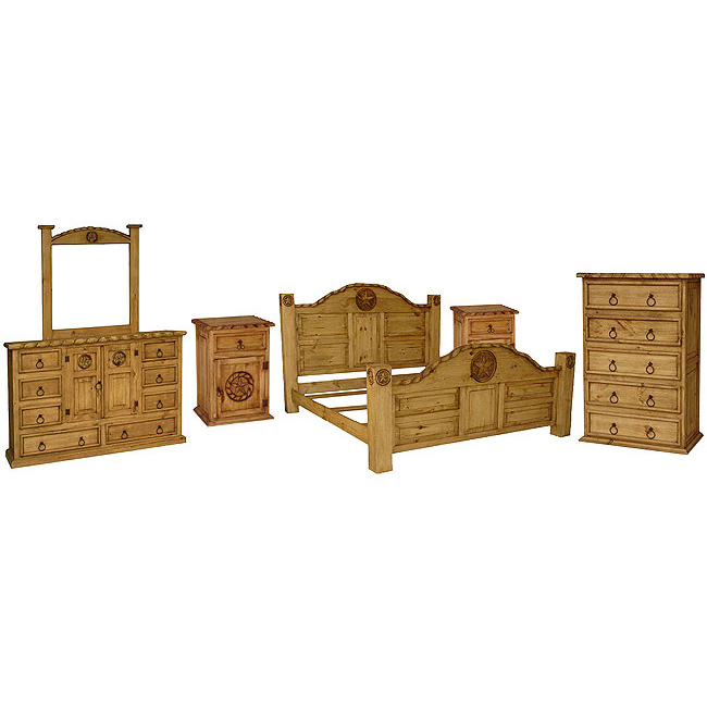 Rustic Pine Rodeo Bedroom Set With Queen Rodeo Star Bed Rustic Furniture
