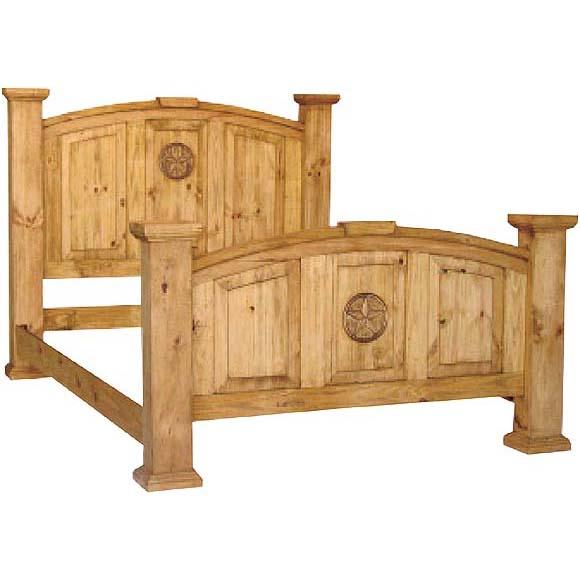 Rustic Mansion Bedroom Set Rustic Bedroom Set Rustic: Rustic Pine King Mansion Star Bed